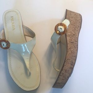 Prada cork sandals size 10